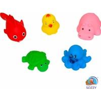 Sozzy Toys Neşeli Banyo Oyuncakları Sevimli Hayvanlar 5'li