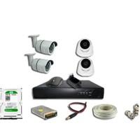 Area 2 Mp 1080P 4 Kameralı Harddisk Dahil Set