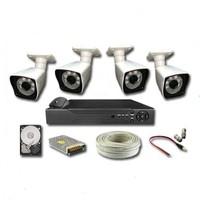 Area 4 Kameralı 2mp 1080 Ful Ahd Güvenlik Seti 320 GB HDD Dahil