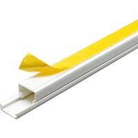 A Plus Elektrik 15x10 mm Güçlü Yapışkan Bantlı Beyaz 2x1m=2m Kablo Kanalı