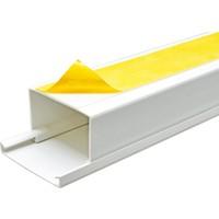 A Plus Elektrik 75x50 mm Güçlü Yapışkan Bantlı Beyaz 2x1m=2m Kablo Kanalı