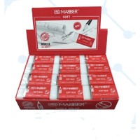 Mabber Soft MB018 Beyaz Silgi 24 'lü Paket
