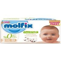 Molfix Pure&soft Bebek Bezi Ekonomik Pk 3 Beden Midi 34 Adet
