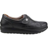 Muya 88011-3352 Günlük Deri Babet Ortopedik Anne Ayakkabısı Siyah