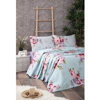 Jolly Home Çift Kişilik Pamuk Pike Rose Aqua