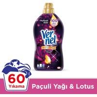 Vernel Max Paçuli Yağı & Lotus Konsantre Çamaşır Yumuşatıcısı 1440ml,60 Yıkama