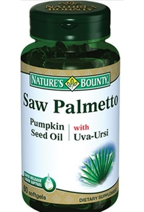 Nature's Bounty Saw Palmetto Pump Seed Oil with Uva-Ursi 60 Tablet