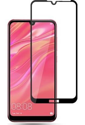 Cayka Huawei Y7 2019 Tam Kaplayan 5D Ekran Koruyucu Cam