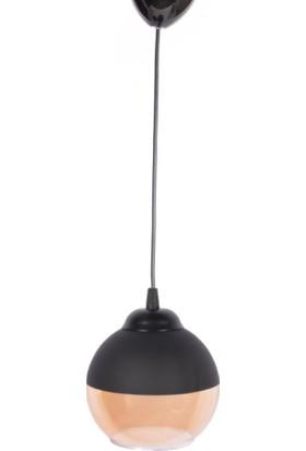 Mylight Retro Tekli Sarkıt Avize Top Cam Siyah 15 cm