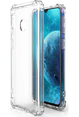 Aktif Aksesuar Samsung Galaxy A10 Kılıf Şeffaf Dört Köşe Korumalı