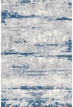 Türkmenhalı Trend 15463A Krem Mavi Modern Desenli Halı