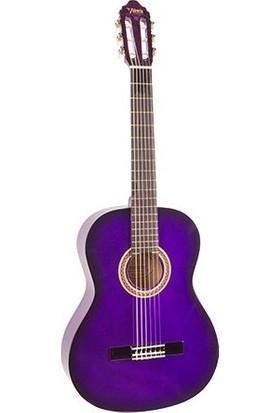 Valencia Valencıa Vc104Pps Klasik Gitar 4/4 Mor Sunburst Parlak