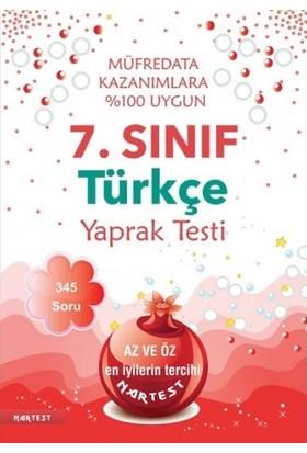 Nartest Yayınevi 7. Sınıf Türkçe Yaprak Test Yeni Müfredat