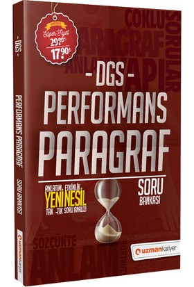 Uzman Kariyer DGS Performans Paragraf Soru Bankası