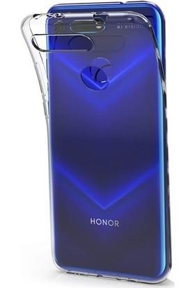 Ehr. Huawei Honor View 20 Kılıf 0.5 mm Süper Soft Şeffaf Silikon Kılıf + Nano Ekran Koruyucu Şeffaf