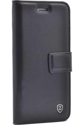 Ehr. Samsung Galaxy J5 Pro Kılıf Cüzdanlı Mıknatıslı Standlı Kopçalı Lüks Kılıf Siyah