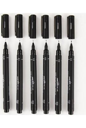 Uni Pin Teknik Çizim Kalemi 6'lı Set