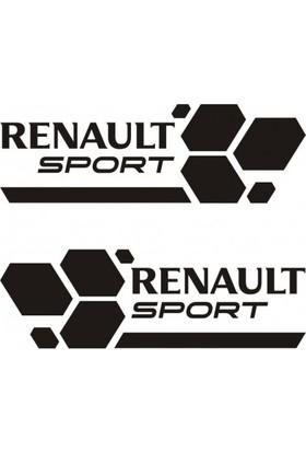Areksan Reklam Renault Sport Araba Için Oto Sticker 30 cm Siyah