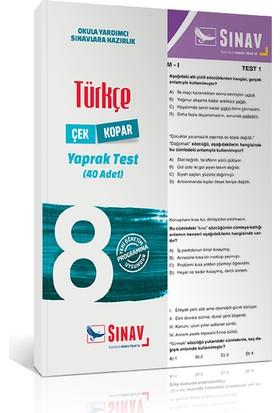 Sınav Yayınları 8. Sınıf Türkçe Yaprak Test