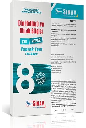 Sınav Yayınları 8. Sınıf Din Kültürü ve Ahlak Bilgisi Yaprak Test