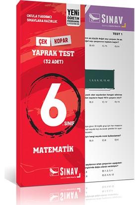 Sınav Yayınları 6. Sınıf Matematik Yaprak Test