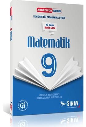 Sınav Yayınları 9. Sınıf Matematik Akordiyon Kitap