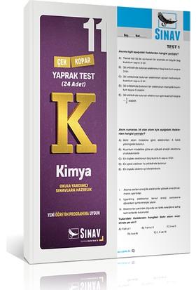 Sınav Yayınları 11. Sınıf Kimya Yaprak Test