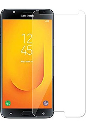 Engo Samsung Galaxy J7 Duo Ekran Koruyucu Cam 2.5D 9H Temperli Şeffaf Ekran Koruyucu