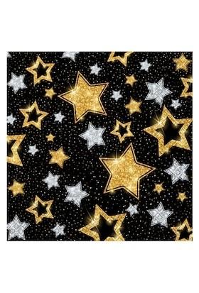 Roll-Up Roll-Up Kağıt Peçete Yıldızlar Siyah 33X33Cm