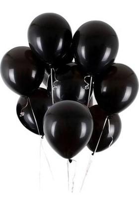 Balon Evi 30 Adet Siyah Metalik Balon 12 İnç