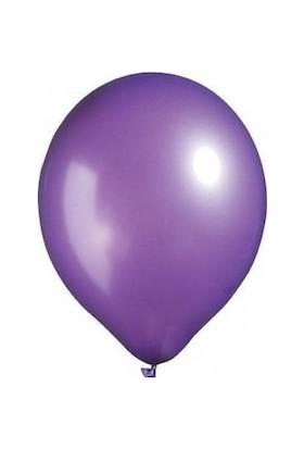 Balon Evi Metalik Mor Balon 100 Adet