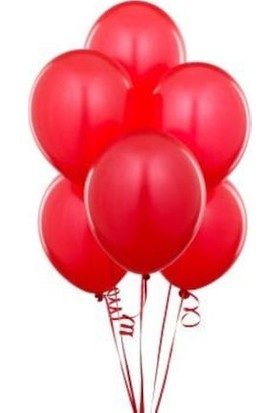 Balon Evi 25 Adet Metalik Sedefli Parlak Kırmızı Balon (Helyumla Uçan)