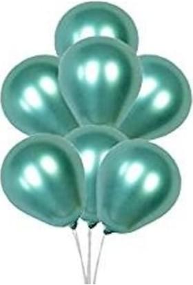 Balon Evi Yeşil Balon Parti Balonu Krom Balon Yeşil Balon 5 Adet