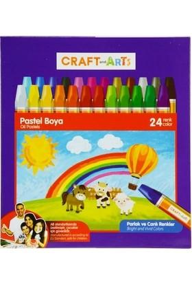 Craft And Arts 24 Renk Pastel Boya - Karton Kutu - U1824