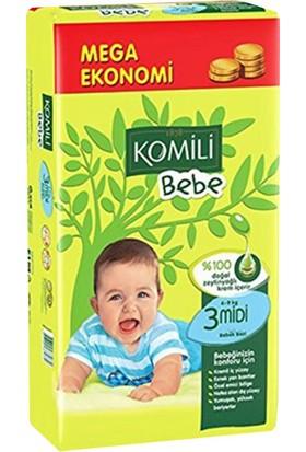 Komili Bebe Bebek Bezi 3 Beden Jumbo Paket 48 Adet