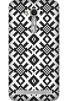 Cupcase Asus Zenfone 2 Laser (ZE550KL) Kılıf Desenli Silikon Kapak + Nano Glass Cam - Seramico