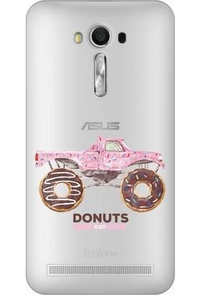 Cupcase Asus Zenfone 2 Laser (ZE550KL) Kılıf Desenli Silikon Kapak + Nano Glass Cam - Donut Pick-Up
