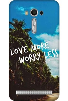 Cupcase Asus Zenfone 2 Laser (ZE550KL) Kılıf Desenli Silikon Kapak + Nano Glass Cam - Love More
