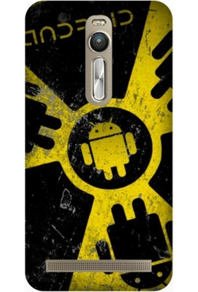Cupcase Asus Zenfone 2 (ZE551ML) Kılıf Desenli Silikon Kapak + Nano Glass Cam - Android