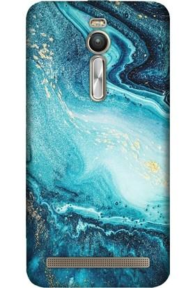 Cupcase Asus Zenfone 2 (ZE551ML) Kılıf Desenli Silikon Kapak + Nano Glass Cam - İşlenmiş Ametist