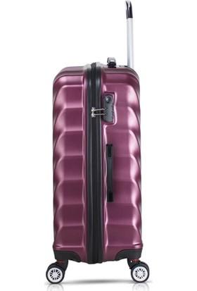 My Valice Lotus Abs 2'li Valiz Seti (Kabin ve Büyük) Mürdüm