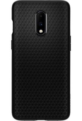 Spigen OnePlus 7 Kılıf Liquid Air Matte Black - K08CS26415