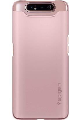 Spigen Samsung Galaxy A80 Kılıf Thin Fit Rose Gold - 621CS26418