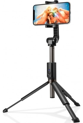 Spigen S540W Tripod Kumandalı Kablosuz Bluetooth Selfie Çubuğu (Tüm Cihazlara Uyumlu) Black - 000SS24111