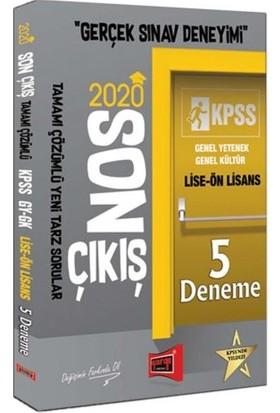 Yargı Yayınları 2020 Kpss Lise-Ön Lisans Gy-Gk Son Çıkış Tamamı Çözümlü 5 Deneme