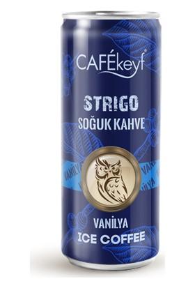 Cafekeyf Strigo Soğuk Kahve Vanilya (250 ml *12 Adet Slim Kutu)