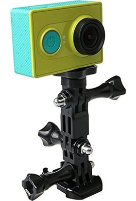 KingMa GoPro Uyumlu Eğimli Düz Kask Bağlantı Seti