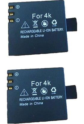 KingMa Aksiyon Kameralar için FOR4K 1050mAh İkili Batarya Seti