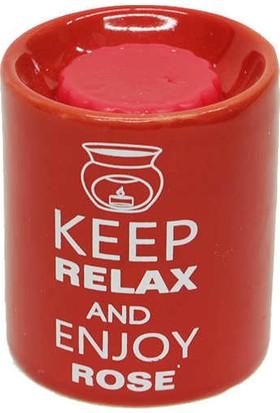 Esterya Plus Çilek Sabunu Keep Calm Buhurdanlık Gül - Rose Oil Burner Gift Set