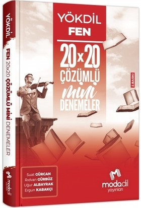 Modadil YÖKDİL Fen 20X20 Çözümlü Mini Denemeler - Suat Gürcan